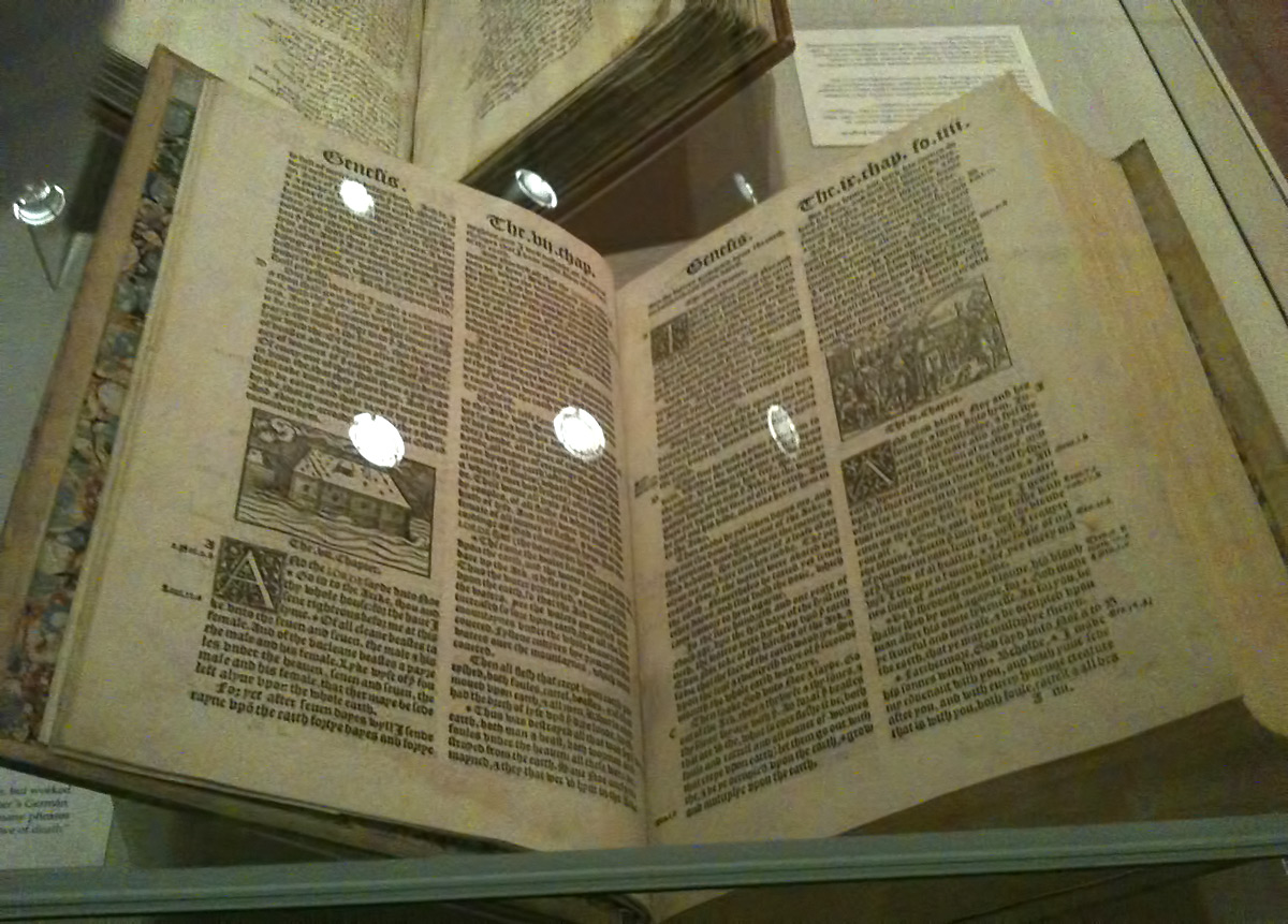 The King James Bible exhibit at the University of Texas at