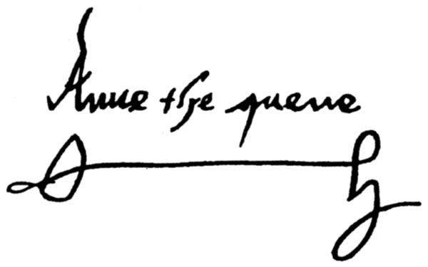 File anne boleyn wikipedia for Tudor signatures