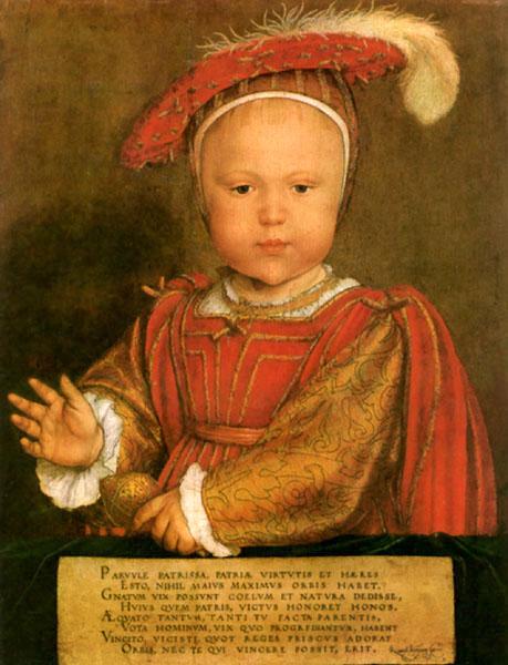 Henry VIII 'mini me' portrait of my son, Edward VI, from Tudorhistory.og